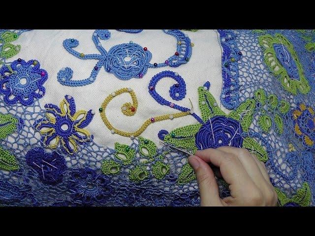 Урок вязания СЕТОЧКИ в ирландском кружеве.Lesson crochet mesh in Irish lace.