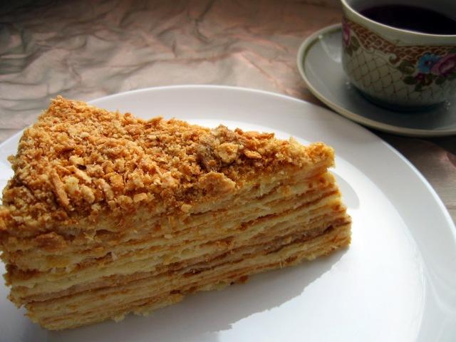 Торт Наполеон Классический Простой рецепт Нежнейшего торта