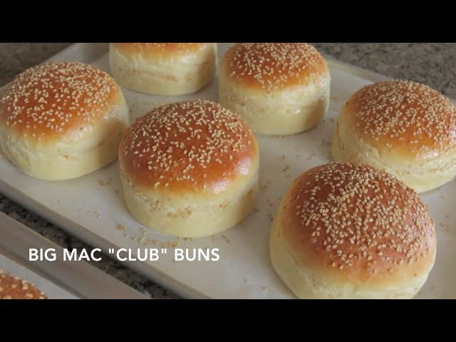 Homemade Hamburger Buns Classic Big Mac Club Straight Dough Method