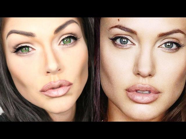 Angelina Jolie Makeup Transformation Tutorial