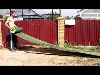 Батькив сад  Готовим агроткань под посадку ежевики, смородины и жимолости