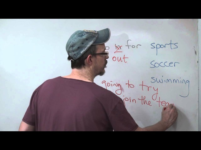 QA: Is go in for sports a common English expression?