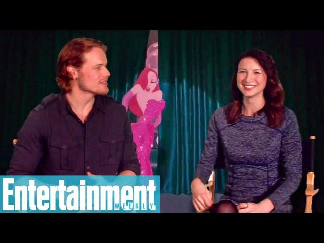 Outlander's Sam Heughan Caitriona Balfe Reveal Celeb Crushes More Entertainment Weekly