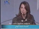 Lady Majida El Roumis speech--Bikaffe-Enough--(Arabic with english subtitles)