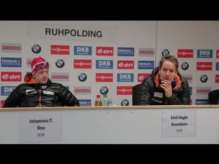 Пресс-конференция призеров мужского спринта - Рупольдинг 2016 (1)