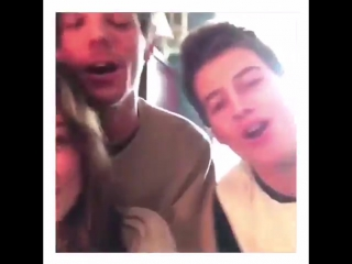 Louis, Danielle and her brother sing Happy Bday for Danielles cousin