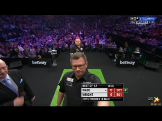 James Wade vs Peter Wright (2016 Premier League Darts / Week 14)