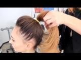 Как сделать красивый высокий хвост из волос. Быстрая легкая прическа