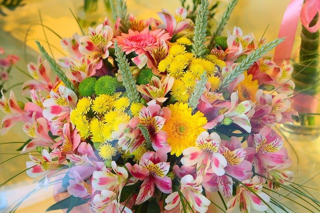 Поздравление с разными цветами 72