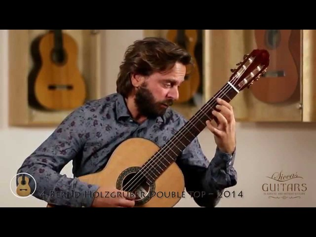 Marcin Dylla plays Capricho Arabe by Francisco Tárrega on six different guitars