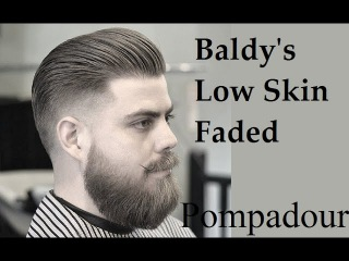 Baldy's Cut And Style Skin Faded Pompadour And Beard Tutorial