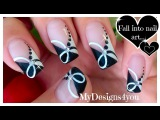 Quick Black and White Nail Art Monochrome French