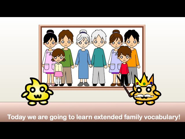 Japanese Family Vocabulary - Grandma, Grandpa, Aunt, Uncle, etc. in Japanese