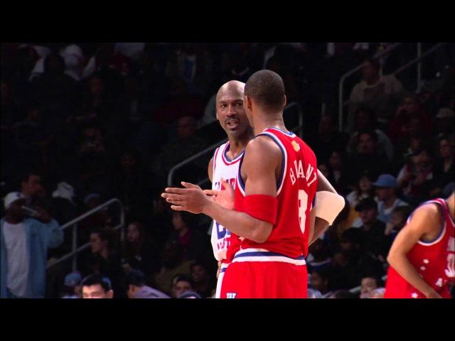 Kobe Bryant and Michael Jordan Trash Talking at 2003 All-Star Game