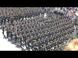 День победы 9 мая 2015 Москва пл Яузкие ворота после парада на Красной пл