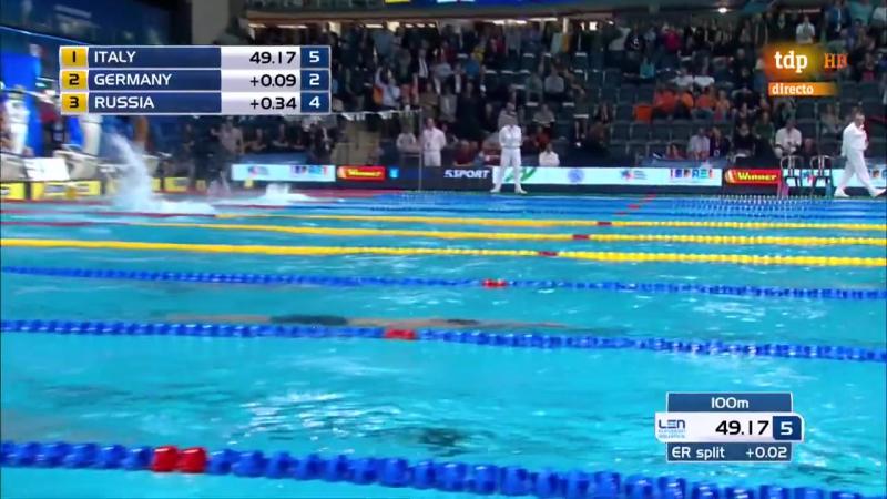 4X50m Medley men - European short course swimming championships (4-ая медаль, бронза)