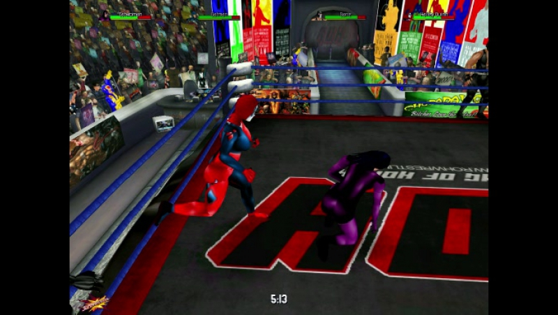 Бэтмен Бэтмен Будущего и Женщина Кошка против Бэйна Джокера и Харли Куин
