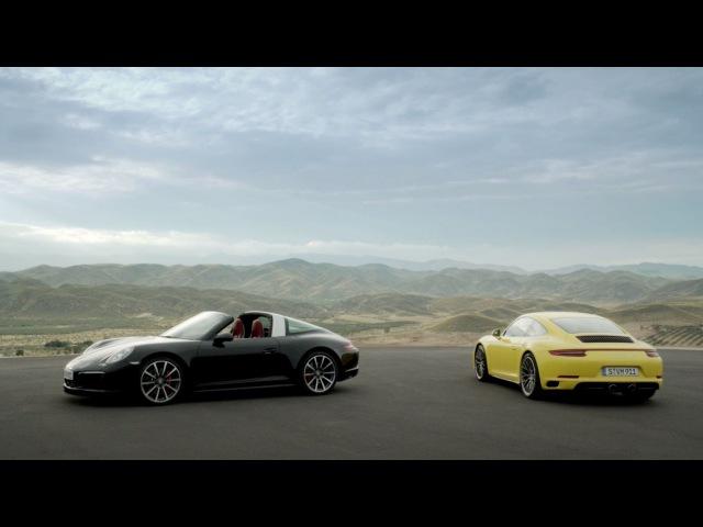 The new 911 Carrera 4 Targa 4 models. Ever ahead.
