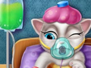 ГОВОРЯЩАЯ Кошка Анжела болеет гриппом ИГРА! ИГРЫ для девочек ОНЛАЙН БЕСПЛАТНО! МУЛЬТФИЛЬМ!