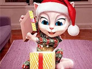 РАЗВИВАЮЩИЕ ИГРЫ Кошка Анжела и подарок Пазл! Лучшие игры для детей ОНЛАЙН!
