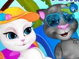 Игры говорящий кот играть ОНЛАЙН БЕСПЛАТНО!!! ИГРА Свадебное путешествие Тома и Анжелы!!!