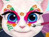 МАКИЯЖ для говорящей кошки АНЖЕЛЫ! Игра Рисуем на лице Анжелы! МУЛЬТИК!