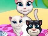 Игра ГОВОРЯЩАЯ Кошка Анжела на пикнике! ГОВОРЯЩИЕ ИГРЫ! МУЛЬТФИЛЬМ! Детские онлайн игры!