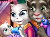 КОШКА Анжела и КОТ Том кормят малыша! ЛУЧШИЕ детские игры  ОНЛАЙН БЕСПЛАТНО! Мультик!