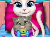 Игра Рождение малыша ГОВОРЯЩЕЙ КОШКИ Анжелы! МУЛЬТИКИ! Говорящие игры онлайн БЕСПЛАТНО!