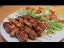 Куриные шашлычки в сладкой паприке на сковородке