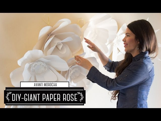 DIY How to Make a Paper Flower Backdrop Rose / Como Hacer un Mural de Flores de Papel Rosa