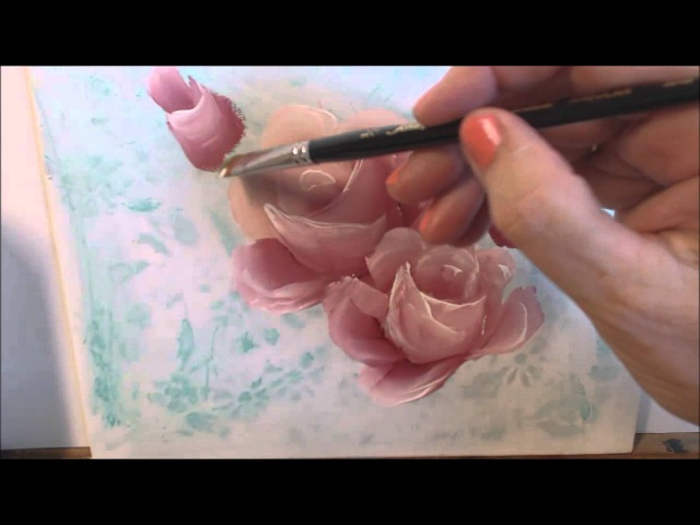 Painting Roses by Marjorie Harris Clark using DecoArt Traditions Paint www.harrisclarkroses.com