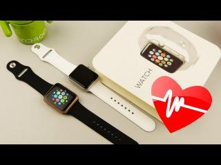 Точная Китайская копия Apple Watch с датчиком сердцебиения.