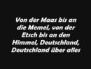 Deutschland Hymne incl 4 Strophe das Original