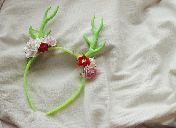 Рожки оленя на ободке своими руками