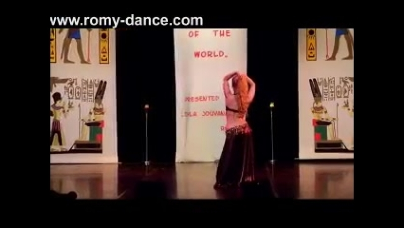 1st Place 'Bellydancer of the World 2013 BDSS Romy