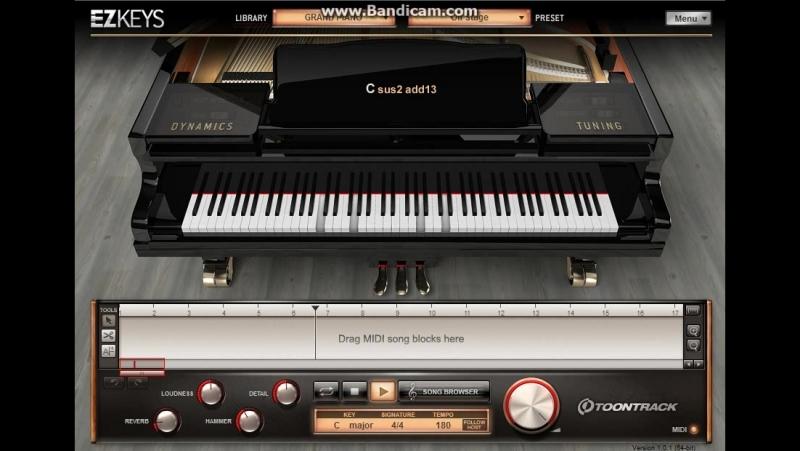 EzKeys Grand Piano Tutorial (Avenged Sevenfold - Lost - Intro)