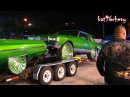 Car Show Customs GREEN FLEET: Box Chevy on 32s, 75 Donk, Ford Dually, Busa, SRX - HD