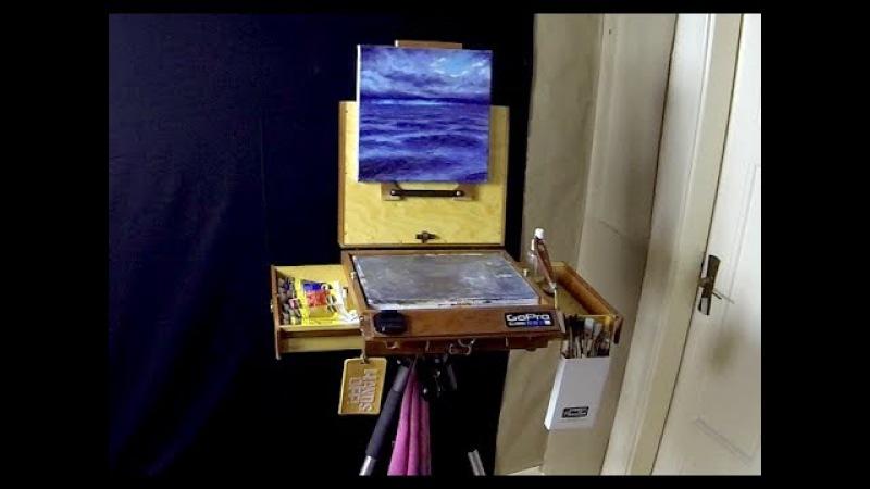 Alla Prima Pochade Box Bitteroot 10 x 12 Review - Acrylic Painting Tips