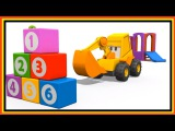 Excavator Max baby cartoons. Learn English: fruit names. Kids educational videos. Excavator for kids