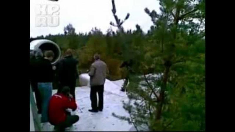 Аварийная посадка Ту-154 ИЗ САЛОНА vkontakte.ru/club5751308