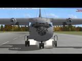 Ан-12БК Визуальный заход Microsoft FSX