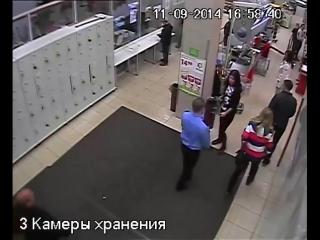 Драка в магазине с охраной. Охреневшая кобыла