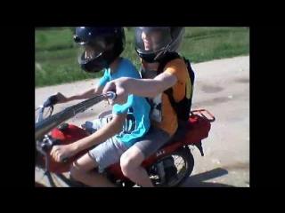 Покатушки на мотоцикле Зид Сова 200