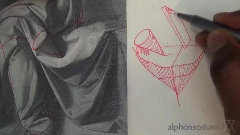Pen and Ink Drawing Tutorials - How to draw drapery like Leonardo da Vinci