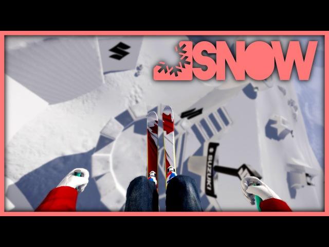 Jesper Tjäders NINE KNIGHTS SKI RUN RE-CREATED IN SNOW!! (Snow The Game)