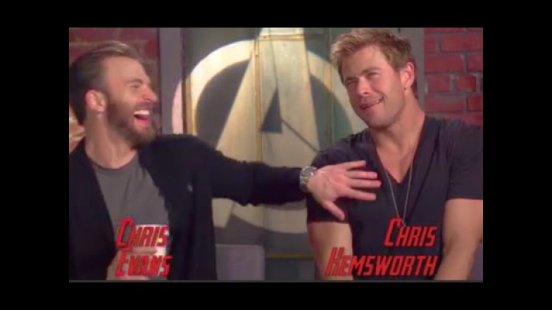 Chris Evans Chris Hemsworth Funny Moments (2015)