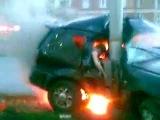 Люди сгорели заживо в машине