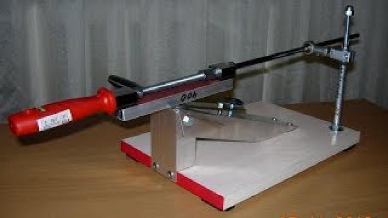 Точилка для ножей от Робинзона с шаровым узлом скольжения. Knife sharpening system from the Robinzon