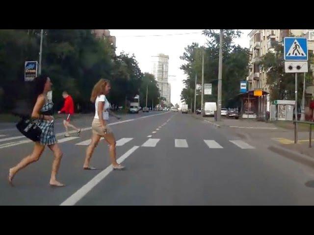 Пешеходы глазами водителя Life pedestrians RoadCrash500